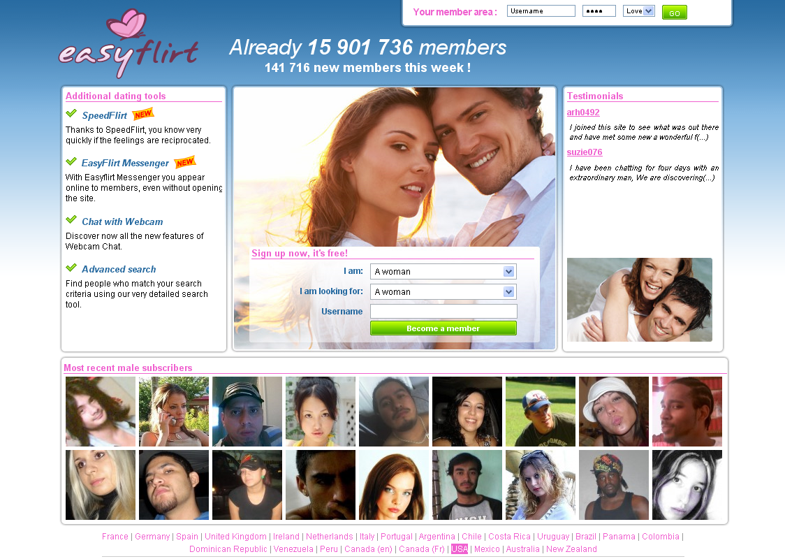 Dating site flirt